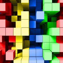 Déco murales - Deep Tetris Color