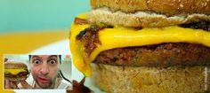 Sanduíche 'Cheddar McMelt' em versão vegana é a receita do novo episódio do VegetariRango | Vista-se