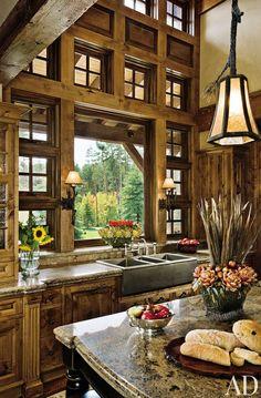 Rustic warm kitchen