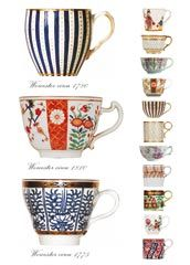 'Georgian Worcester Cups' via Frederica Cards
