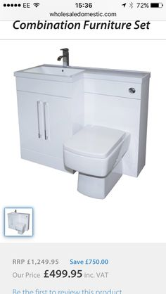Capri Left Hand White Gloss Vanity Unit Toilet SuiteModel No. of:Capri White Gloss 2 Door Vanity x x White Gloss Back to Wall Toilet Toilet Suites, Back To Wall Toilets, Basin Unit, Bathroom Basin, Vanity Units, Furniture Sets, Sink, The Unit, Bathrooms