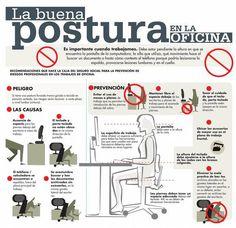 Es importante cuando estés en tu oficina que vigiles tu postura corporal.