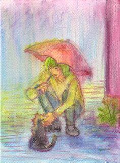 In the rain. by *koony on deviantART