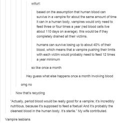 I imagine all the period desires will be stilled by the Vampire lover. (Me- an intellectual: Let's write sexy vampire porn but not in a way you would expect it. Writing A Book, Writing Tips, Writing Prompts, Tumblr Funny, Funny Memes, Hilarious, All Meme, Story Prompts, Tumblr Posts