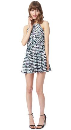 Parker New York Official Store, Orion Combo Dress, jasmine, Womens : Dresses, PA122262MES