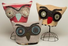 Hooty Hoot hats---i think i can maket these out of tshirts ...maybe 4 layers???