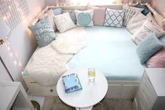 My little white Home: Pokój nastolatki-leżanka Hemnes Hemnes, Vsco, Aesthetic Bedroom, White Houses, Little White, Dream Rooms, New Room, My Dream Home, Kids Bedroom