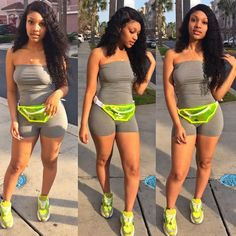 Need help getting a flatter more desirable stomach? Let us help you! You deserve it! We specialize in Waist Trainers & Sweat Belts! What are you waiting for? All sizes available! Cute Swag Outfits, Dope Outfits, Cute Summer Outfits, Trendy Outfits, Girl Outfits, Fashion Outfits, Black Girls Outfits, School Outfits, Spring Outfits