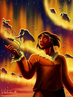"The Aurora by Whitestar1802.deviantart.com on @deviantART - Kenai from Disney's ""Brother Bear"" - Not a film I've seen before, but this drawing is amazing!"