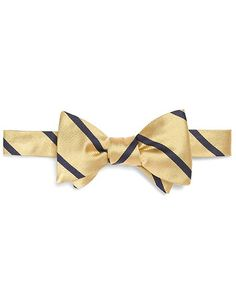 navy suit pink and gold bow tie | BB#3 Bow Tie - Brooks Brothers