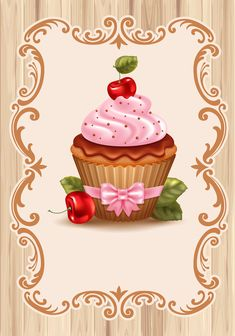 Find cupcakes stock images in HD and millions of other royalty-free stock photos, illustrations and vectors in the Shutterstock collection. Cupcake Illustration, Cupcake Pictures, Cupcake Images, Cupcake Drawing, Cupcake Art, Cherry Cupcakes, Cute Cupcakes, Cupcakes Bonitos