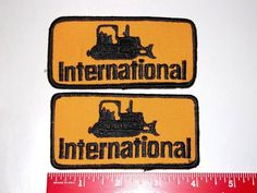 Vintage International Bull Dozer Patch Lot of 2