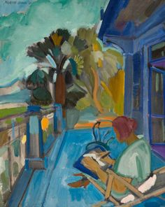 Woman on Terrace, 1926, by Martin Bloch (British, 1883–1954).