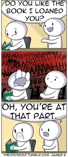 This is exactly me whenever a very intimidating part in a book.