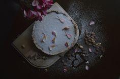 caramel queen tart; a layer of homemade creamy caramel, then a smooth white chocolate ganache