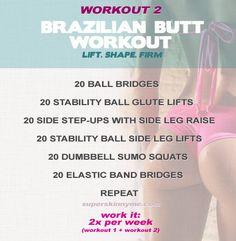 Brazilian butt lift workout plan