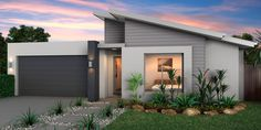 Hotondo Homes - Claremont 163 Exterior House Colors, Exterior Design, Modern Exterior, Exterior Paint, Hotondo Homes, Large Open Plan Kitchens, Facade House, House Facades, Bedroom House Plans