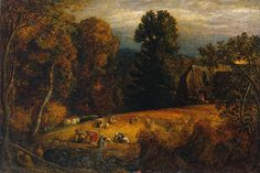 Samuel Palmer, The Gleaning Field, c. 1833