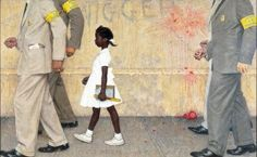 """""""The Problem We All Live With,"""" Norman Rockwell, 1963. Illustration for """"Look,"""" January 14, 1964. Norman Rockwell Museum Collection."""