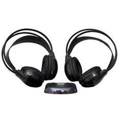 One Pair Wireless Infrared Stereo Headphones with Transmitter