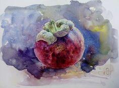 Mangosteen   20 x 30 cm   watercolor