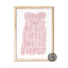 Little But Fierce Girl's Room Print