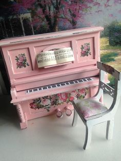 Dollhouse Miniature Shabby Chic Pink by IttyBittyAndCute on Etsy