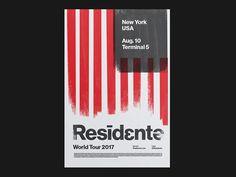 Residente World Tour / Poster Series – No. 1 by Steffen Christiansen