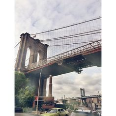 Classic two #DUMBO Bridges. #Brooklyn #NYC #newyork #newyorkcity #bridges #sky #clouds #nature #afterlight www.dumbolifeandstyle.com