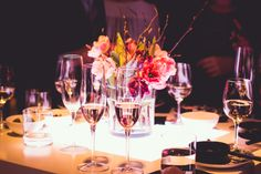 Champagne and flowers the Client Event | Conservatorium Hotel