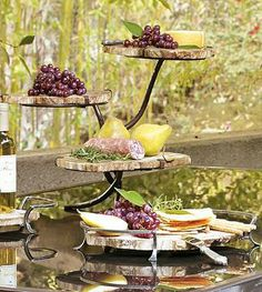 Crafted from petrified wood – wood turned to stone – each tray is a highly durable work of art, and perfect for outdoor use.