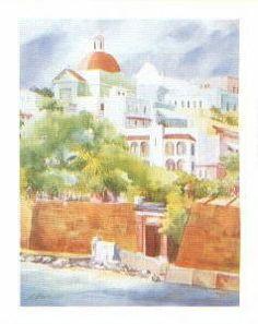"""Old San Juan"" A Lithograph By Barbara Z. Pecce-Isla"