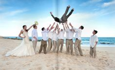 fun shot, would be cool with the bride too!