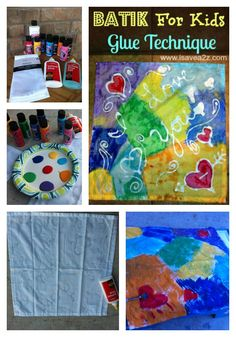 I seriously think this was one of the easiest kids projects I've ever done!  THEY LOVED IT!!!  Batik for Kids art project