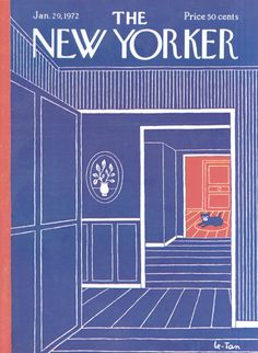Pierre Le-Tan : Cover art for The New Yorker 2450 - 29 January 1972