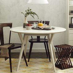 Yay, they had it slightly larger! Parker Mid-Century Round Dining Table #westelm