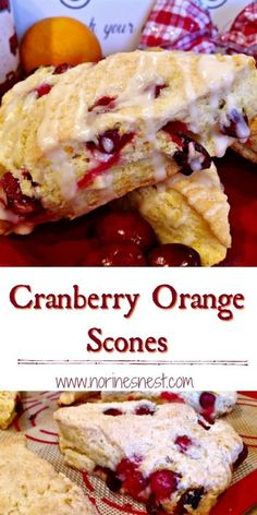 Lower Excess Fat Rooster Recipes That Basically Prime Tender Moist Cranberry Orange Scones Loaded With Subtle Orange Zest And Fresh Cranberries. It's A Flavor Party For Your Mouth. Ideal For Christmas Brunch Recipes, Sweet Recipes, Dessert Recipes, Dessert Bread, Cranberry Orange Scones, Orange Zest, Cranberry Bread, Delicious Desserts, Yummy Food