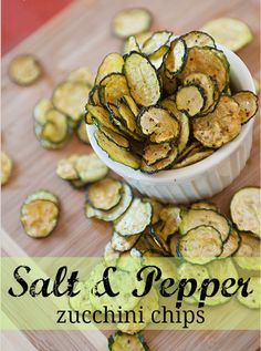 A healthier alternative to packed potato chips: Salt and Pepper Zucchini Chips. Looks delish!