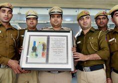 The Delhi police has recovered child rights activist Kailash Satyarthi's Nobel citation from the jungles near southeast Delhi's Sangam Vihar area.