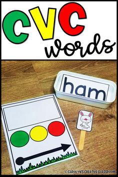 Are your Kindergartners working on CVC words? Do you have struggling readers? These blending cards will help your kiddos become better readers! word family cards with pictures to make it self-correcting! These would be perfect for Spring or Easter! Phonics Reading, Teaching Phonics, Alphabet Activities, Language Activities, Teaching Reading, Preschool Activities, Phonemic Awareness Activities, Jolly Phonics, Reading Activities