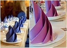 Photo by Womanistical Napkin Folding Video, Deco Table, Wedding Favors, Creative, Napkins, Table Decorations, Tableware, Google, Bbq