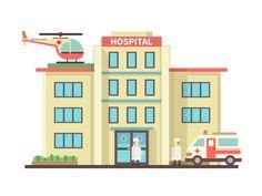 Personas enfermas va al hospital.