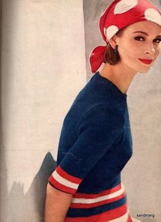 1960s Fashion Knitting Vogue, Love the attire for a 4th celebration!