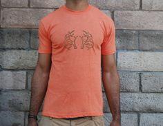 Deer Antler Tshirt  Mens  Unisex  American by TheRareOnesLA, $21.00