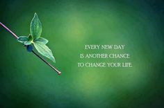 Every new day is another chance to change your life. thedailyquotes.com