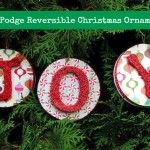 Mod Podge reversible Christmas ornaments.