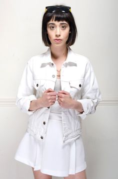 White is so Right this October. This Denim Jacket is just adorable! http://www.nordicpoetry.co.uk/retro-white-levi-s-denim-jacket