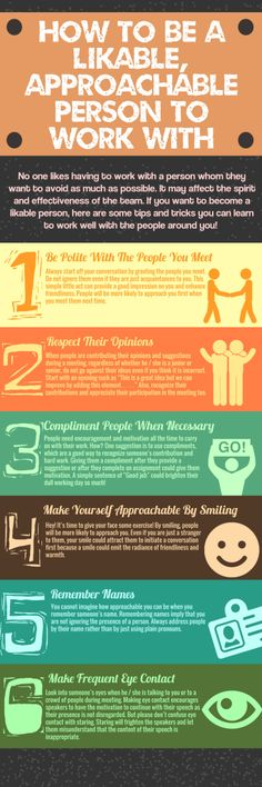 infographic How to Be A Likable, Approachable Person to Work With - Infographic. Image Description How to Be A Likable, Approachable Person to Work With Leadership Development, Communication Skills, Self Development, Personal Development, John Maxwell, Life Quotes Love, Quotes Quotes, Reputation Management, How To Be Likeable