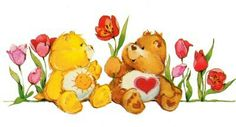 Care Bears: Funshine and Tenderheart Bear with Tulips