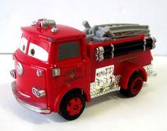Disney Pixar Cars Red the Fire Truck Radiator Springs Fire Department  #Disney #diecast #firetruck